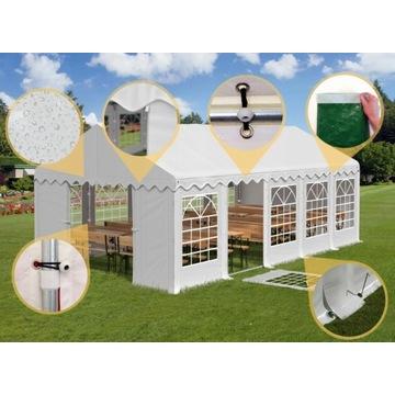 5x10m Namiot IMPREZOWY Biały weselny BIESIADNY w