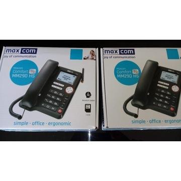 Telefon dla seniora MAXCOM MM29D HS nowy 2 sztuki