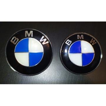 Emblemat BMW znaczek 82mm + 74mm komplet E46 E90