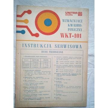 Instrukcja serwisowa wzmacniacz Unitra WKT-101