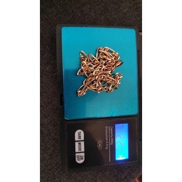 złoty łańcuszek figaro 22.2g 14k 585 50cm