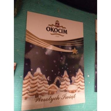 Pocztówka Okocim Świąteczna Chionki