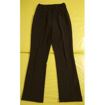 spodnie ciążowe czarne, eleganckie, z kantem, XS
