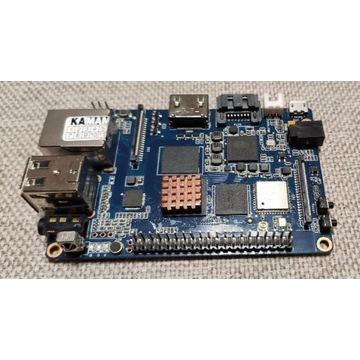 Mikrokomputer Banana Pi M3 zasilacz antena wiatrak