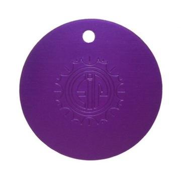 Purpurowa Płytka Tesli-oryginał USA wisior 4 cm