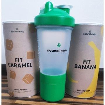 Zestaw fit Caramel  Fit Banan szejker Natural Mojo