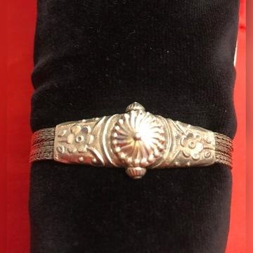 Antyczna bransoletka srebrna