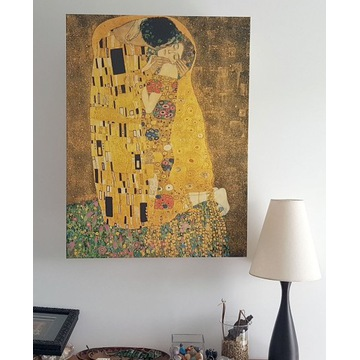 Gustav Klimt - Pocałunek (Kiss) OBRAZ NA PŁÓTNIE