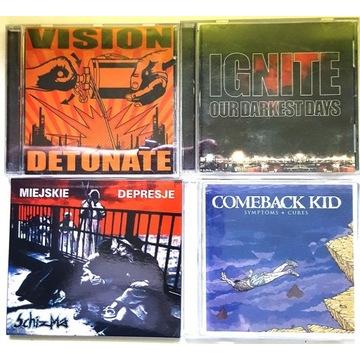 4 płyty HC: VISION, IGNITE, COMEBACK KID ,SCHIZMA