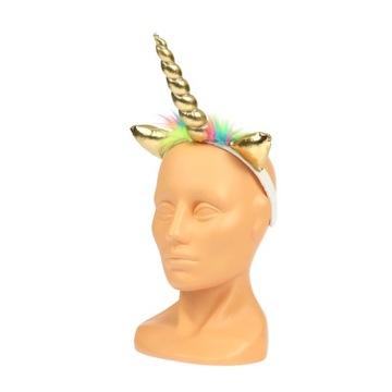Złota OPASKA RÓG JEDNOROŻCA jednorożec unicorn