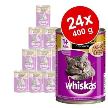 Whiskas Adult 1+    24× 400 g Drób w sosie