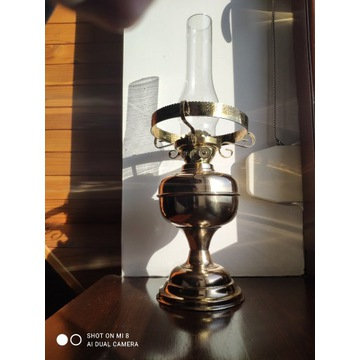 Angielska mosiężna lampa naftowa brak klosza