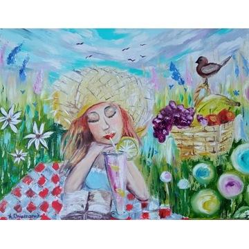 Obraz olejny_Kolorowe lato_40x50