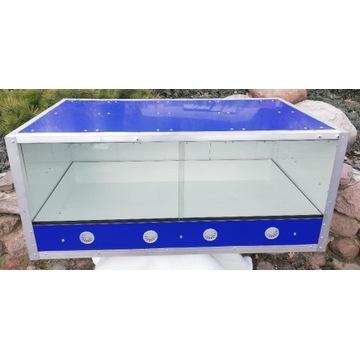 Aluminiowe terrarium 95x50x41 z ogrzewaniem i LED