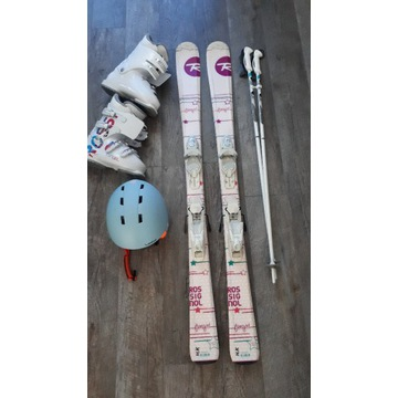 Zestaw narciarski ROSSIGNOL dla dziewcz. 10-12 lat