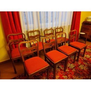 Krzesła Thonet w stylu Art Deco, gięte 6+2 sztuki