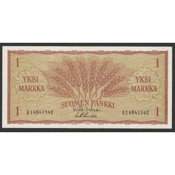 Finlandia 1 markka marka 1963 - stan bankowy UNC