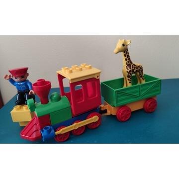 Lego Duplo ciuchcia w zoo pociąg z żyrafą 6144