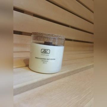 Świeczka sojowa z drewnianym knotem naturalna eco