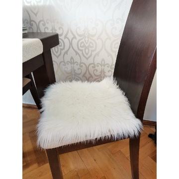 Małe dywaniki 6 sztuk futro białe 40x40