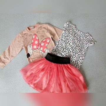 Zestaw spódniczka bluzka i bluza 110
