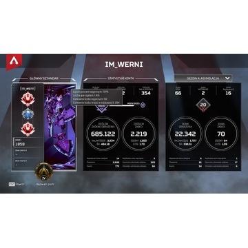 Konto Apex Legends Predator Kunai + Battlefield