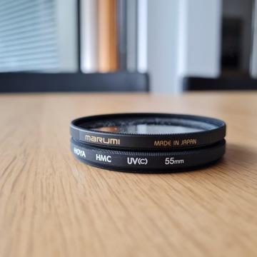 2 x filtr UV 55 mm MARUMI HOYA WWA