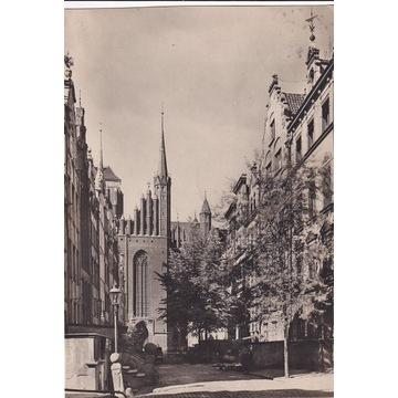 Pocztówka - Gdańsk (Danzig) - Marienkirche