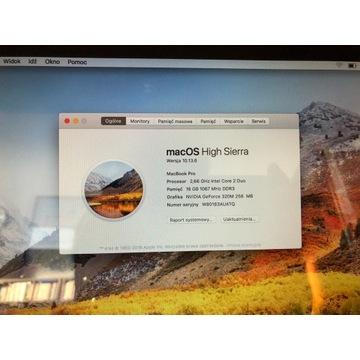 Apple MacBook Pro13 Midl. 2010 2,66GHz 16Gb 250SSD