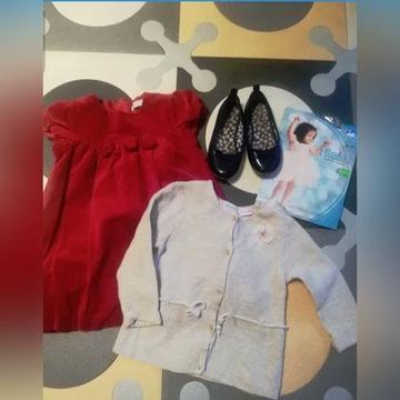 Zestaw wizytowy sukienka sweterek Zara Cool Club