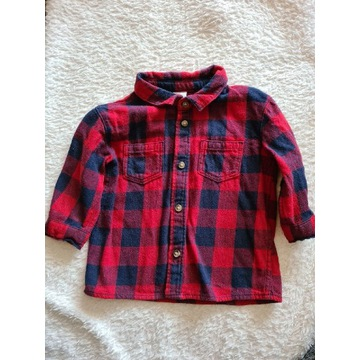 Koszula flanelowa w kratę H&M 68 (4-6m)