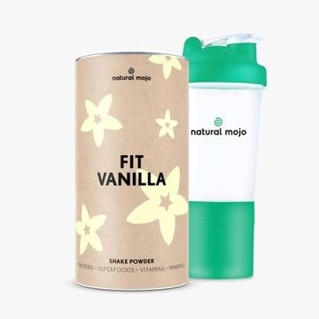 Natural Mojo Promocja!Fit Vanilla 500g +szejker
