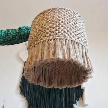 Abażur duży makrama lampa boho
