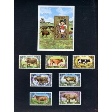 Mongolia 1985, Rasy bydła, komplet
