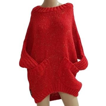 Minouu sweter Mia Rimma czerwony