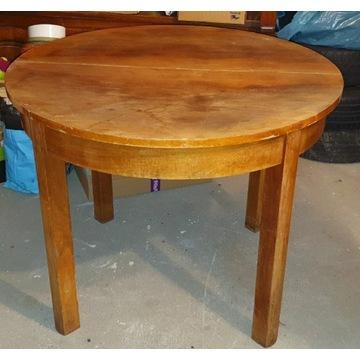 Stół okrągły rozkładany do renowacji.
