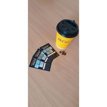 50 kuponów na kawę do Mcdonald's. Hologramy.