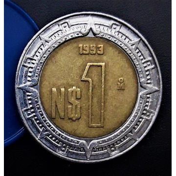 Moneta 1 Peso 1993 M. Meksyk.  Nr-4