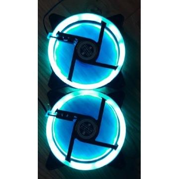 Wentylatory komputerowe świecące niebieskie