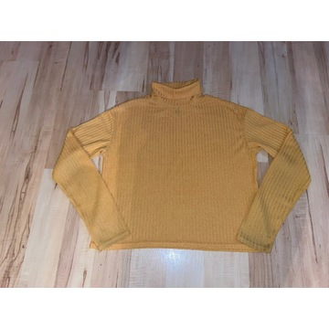Złoty top/swetr H&M z golfem XS