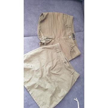Spódnica u spodenki w kolorze Khaki -38