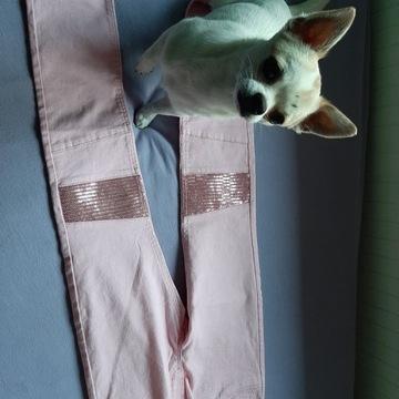 Spodnie H&M 134 rozm. cekiny, nowe