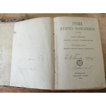 Stara książka PISMA JULIUSZA SŁOWACKIEGO