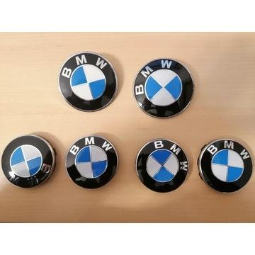 Komplet emblematów i dekielków d BMW E92 Ori