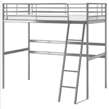 IKEA łóżko antresola SVARTA + materac MOSHULT
