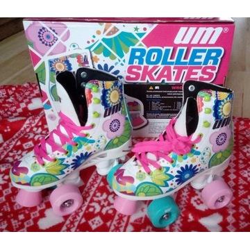 Wrotki dziewczęce Roller skates rozm.34