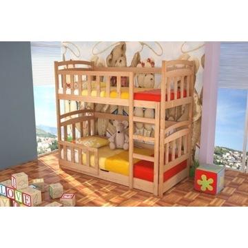 Dwuosobowe piętrowe łóżko dla dzieci z pojemnikiem