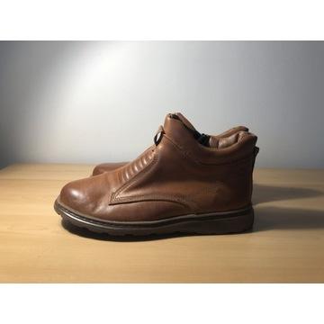 Nowe brazowe buty skóra naturalna zimowe roz. 42