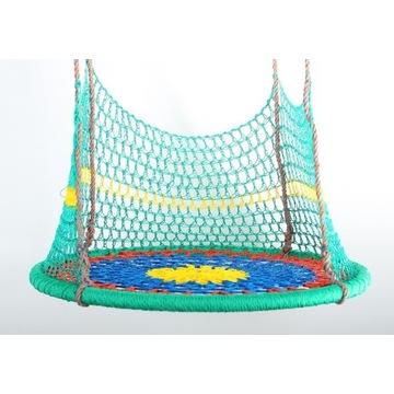 Huśtawka bocianie gniazdo 90 cm Kolorowa z siatką