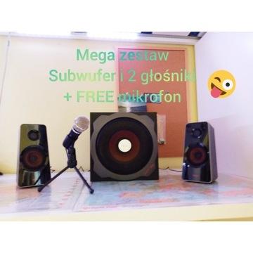 głośniki komputerowe GXT38 Trust+FREE mikrofon